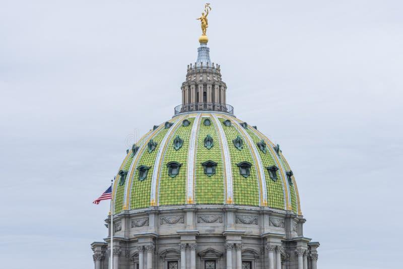 Edificio del capitolio en Harrisburg céntrica, Pennsylvania foto de archivo libre de regalías