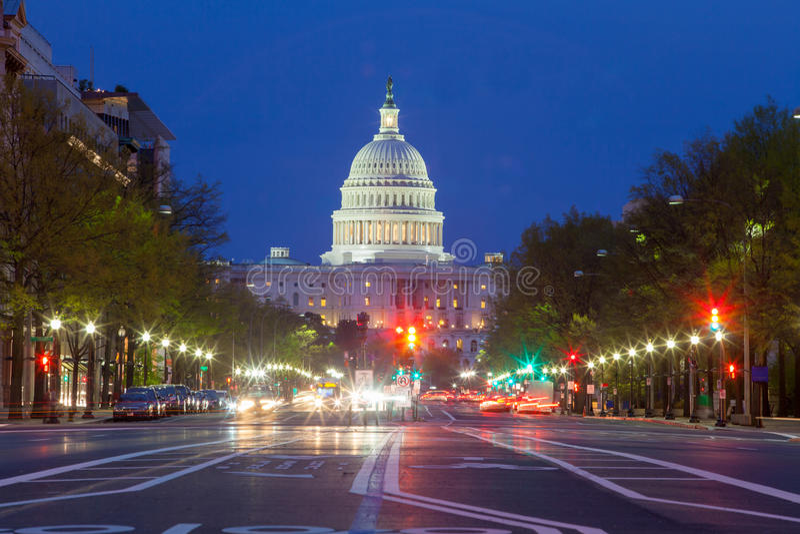 Edificio del capitolio en Washington DC fotografía de archivo libre de regalías