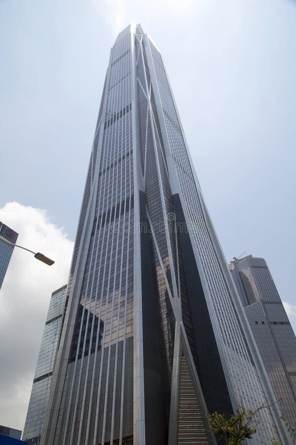 Edificio del centro financiero de Pingan en la ciudad Shenzhen fotos de archivo