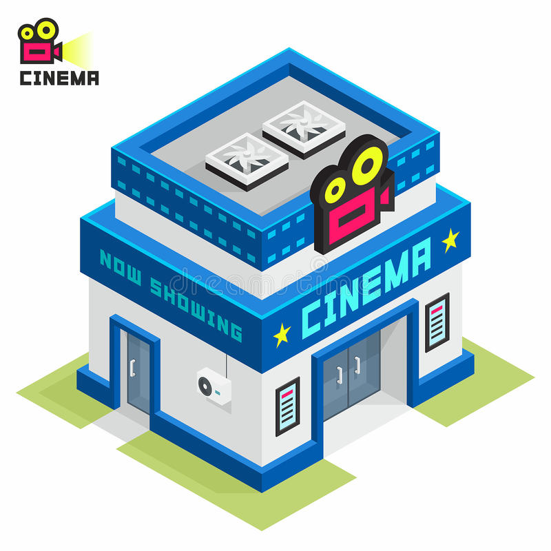 Edificio del cine ilustración del vector