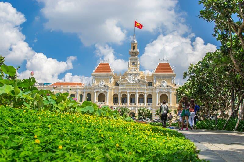 Edificio del comité de la gente de Ho Chi Minh City fotografía de archivo