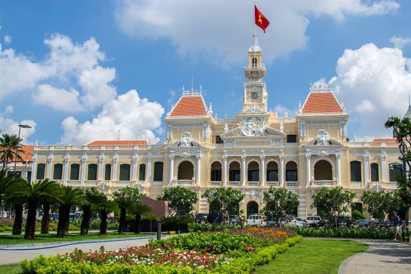 Edificio del comité de la gente de Ho Chi Minh City imagenes de archivo