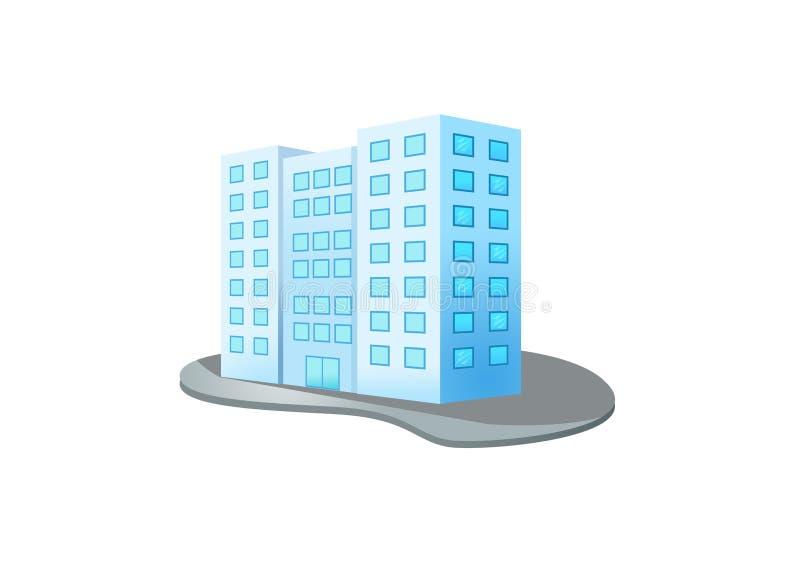 Edificio del dise?o en el fondo blanco ilustración del vector