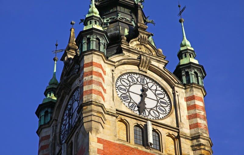 Edificio del ferrocarril en Gdansk fotografía de archivo