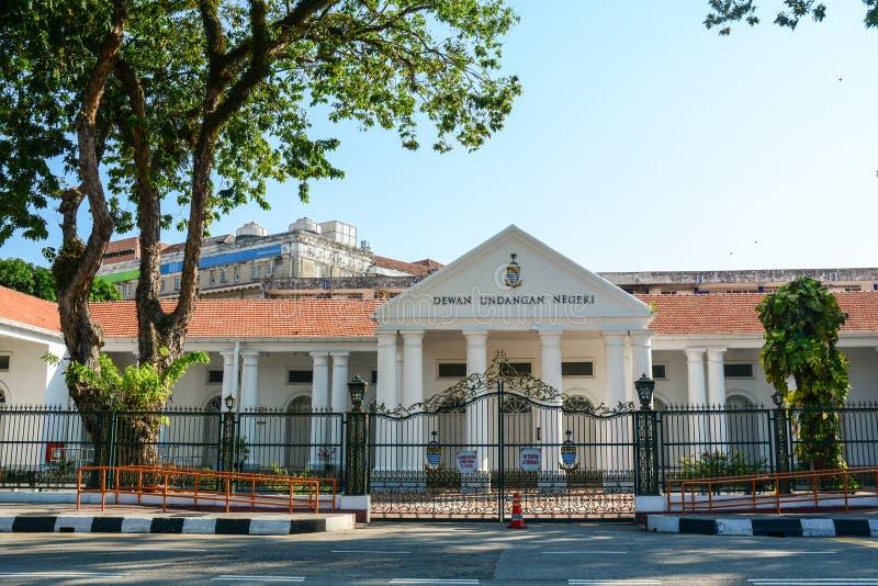 Edificio del gobierno en Georgetown en Penang, Malasia imagen de archivo