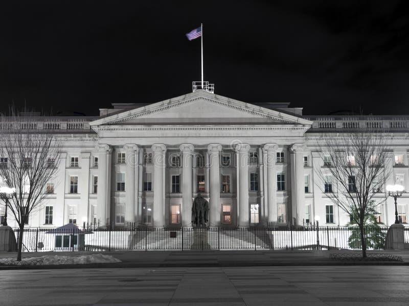 Edificio del Hacienda de Estados Unidos - C.C. de Washingting imagen de archivo libre de regalías