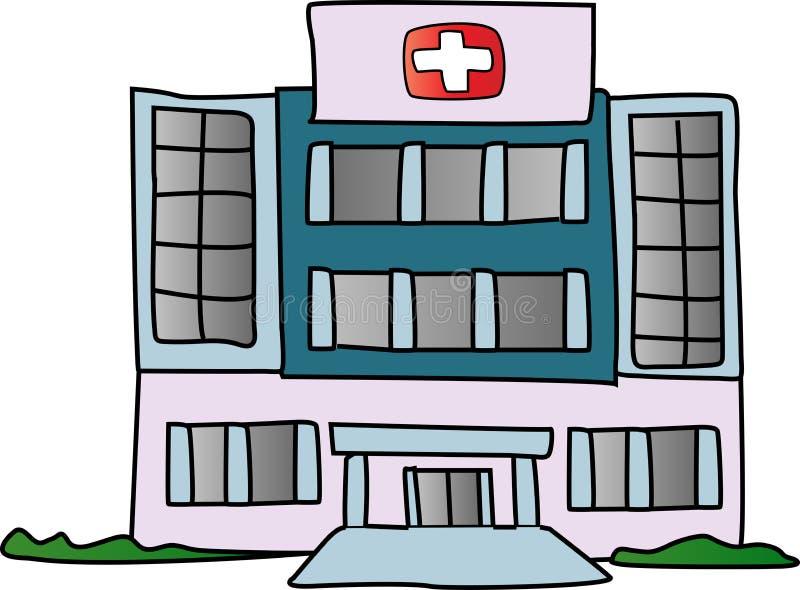 Edificio del hospital stock de ilustración