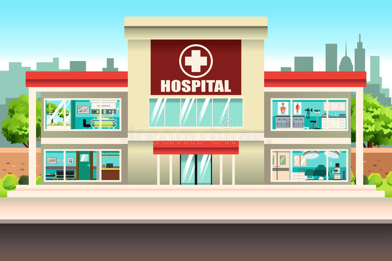 Edificio del hospital ilustración del vector