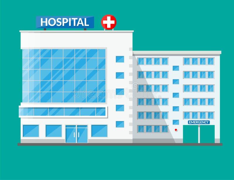 Edificio del hospital, icono médico stock de ilustración