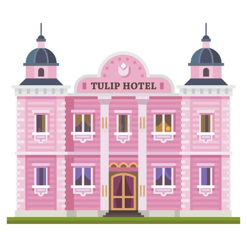 Edificio del hotel stock de ilustración