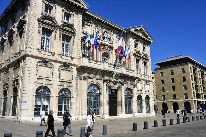 Edificio del hotel de la ciudad - Mairie de Marsella imágenes de archivo libres de regalías