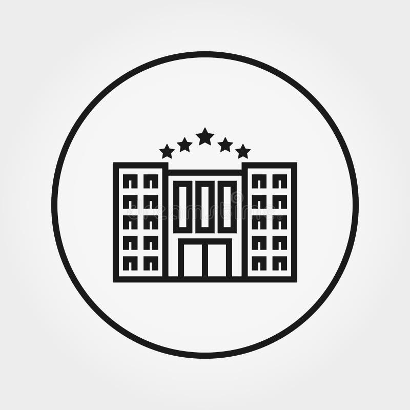 Edificio del hotel icono Vector L?nea fina Editable libre illustration