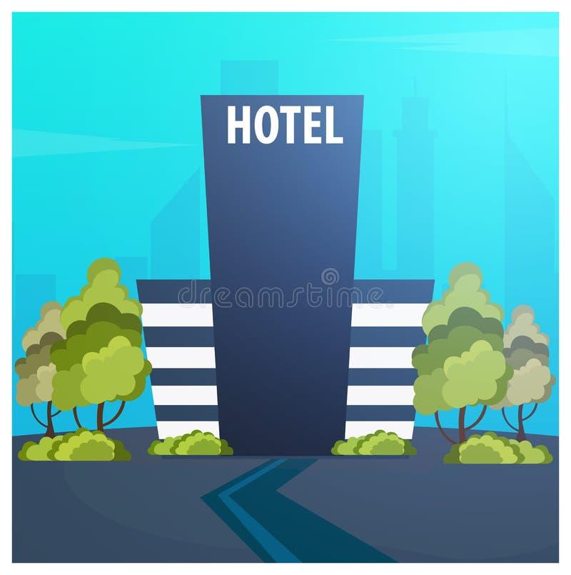Edificio del hotel Pensión Viaje y viaje stock de ilustración