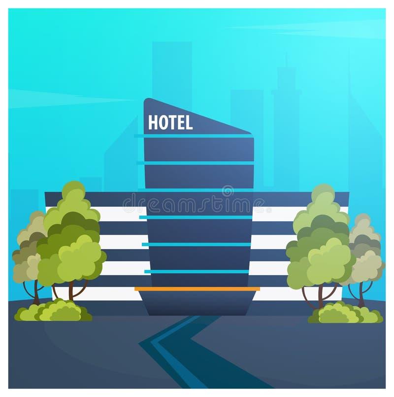 Edificio del hotel Pensión Viaje y viaje libre illustration