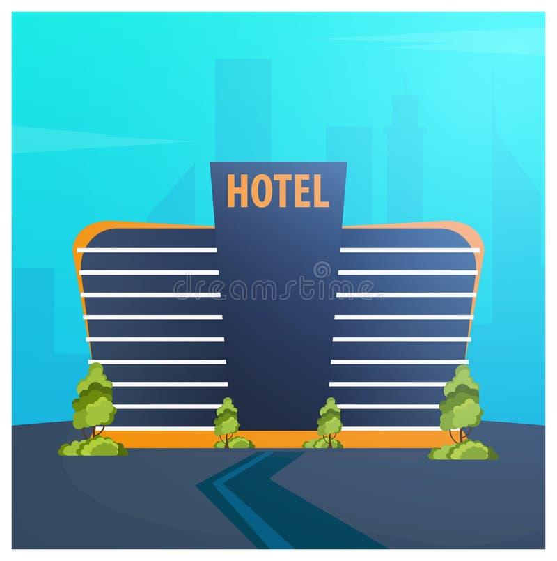 Edificio del hotel Pensión Viaje y viaje ilustración del vector