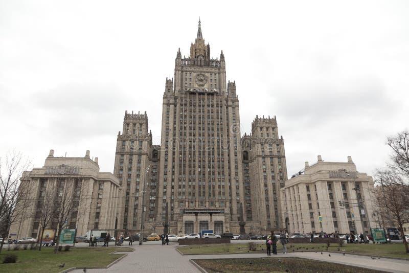 Edificio del Ministerio de Asuntos Exteriores, Moscú, Rusia fotos de archivo