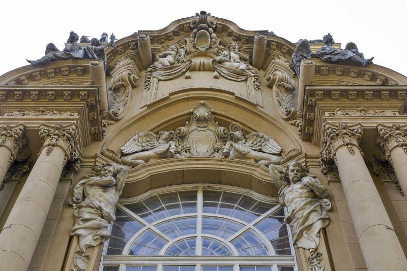Edificio del museo agrícola en el castillo de Vajdahunyad Budapest, Hungría imagen de archivo libre de regalías