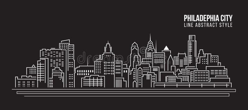 Edificio del paisaje urbano ilustración del vector