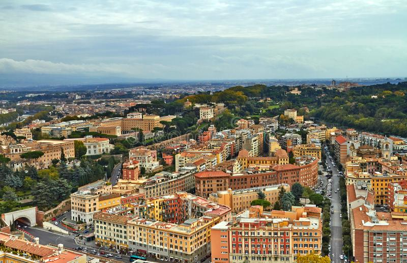 Edificio del panorama de Roma foto de archivo libre de regalías
