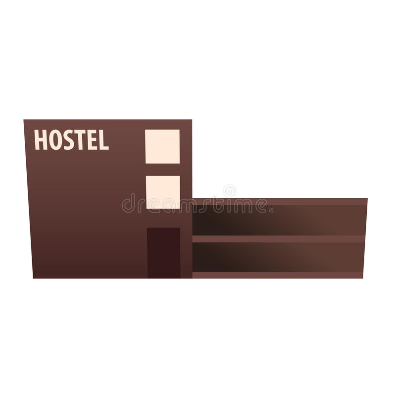 Edificio del parador Pensión Edificio del hotel Viajes stock de ilustración
