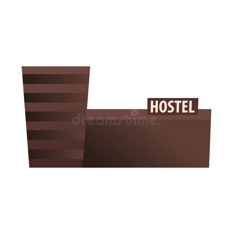 Edificio del parador Pensión Edificio del hotel Viajes ilustración del vector