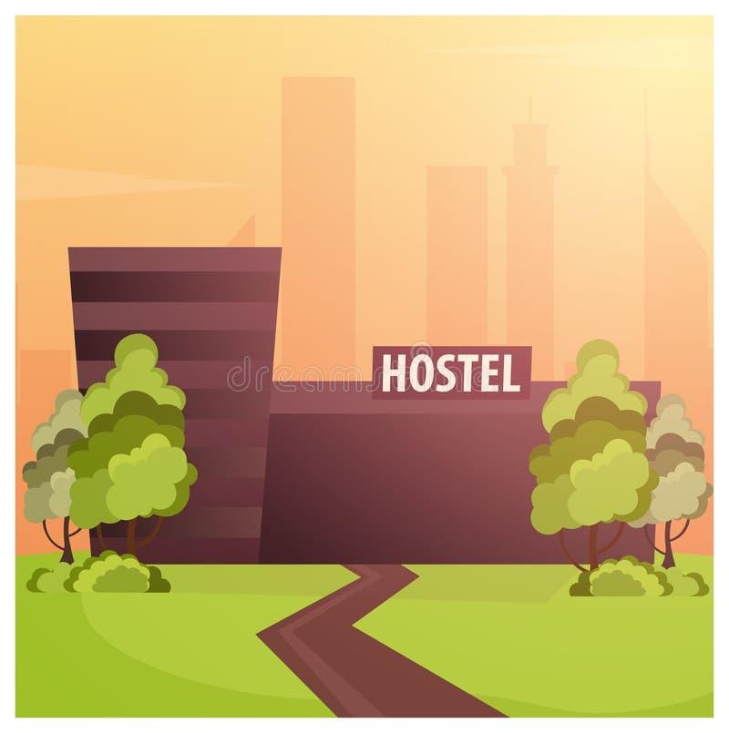 Edificio del parador Pensión Edificio del hotel Viajes libre illustration