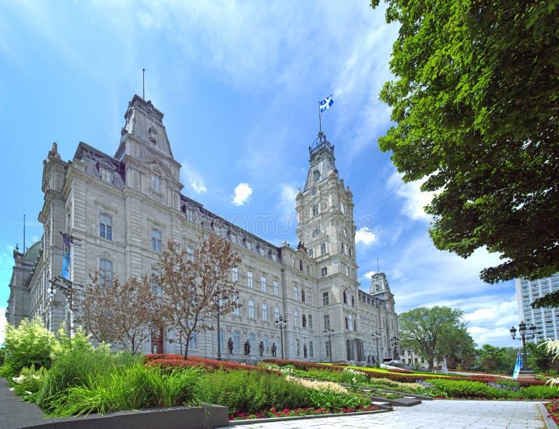 Edificio del parlamento de la provincia de Quebec, Canadá Julio de 2011 Natio fotos de archivo