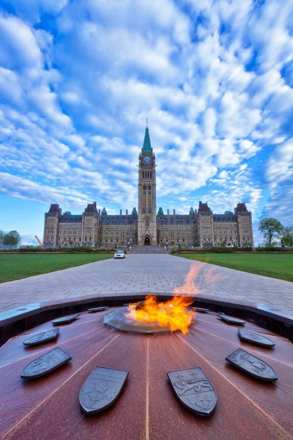 Edificio del parlamento de Ottawa imágenes de archivo libres de regalías