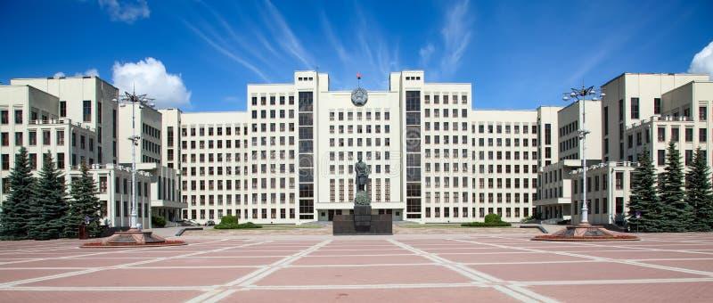 Edificio del parlamento en Minsk. Bielorrusia imagen de archivo