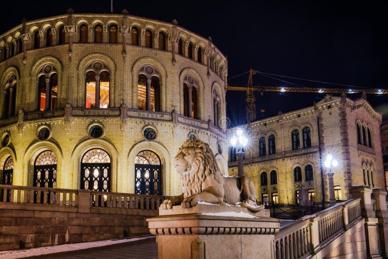 Edificio del parlamento en Oslo Noruega imágenes de archivo libres de regalías