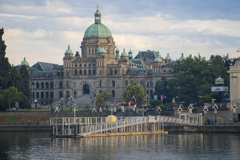 Edificio del parlamento en Victoria, Columbia Brit?nica foto de archivo libre de regalías