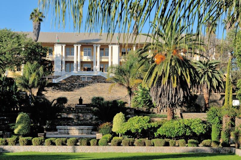 Edificio del parlamento, Windhoek, Namibia imagen de archivo