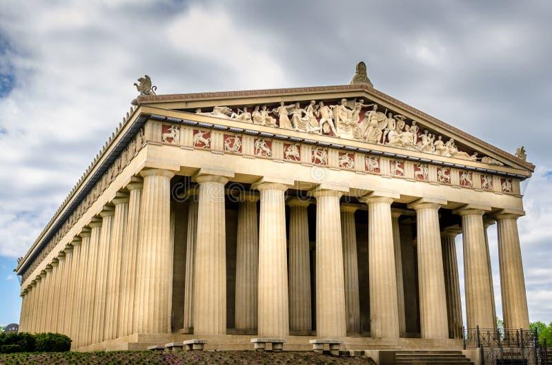 Edificio del Parthenon en Nashville céntrica imágenes de archivo libres de regalías