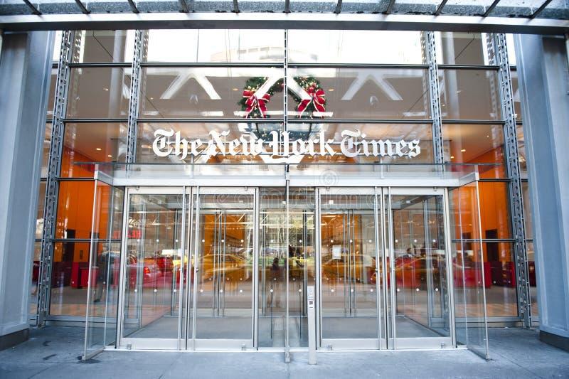 Edificio del periódico de New York Times fotos de archivo