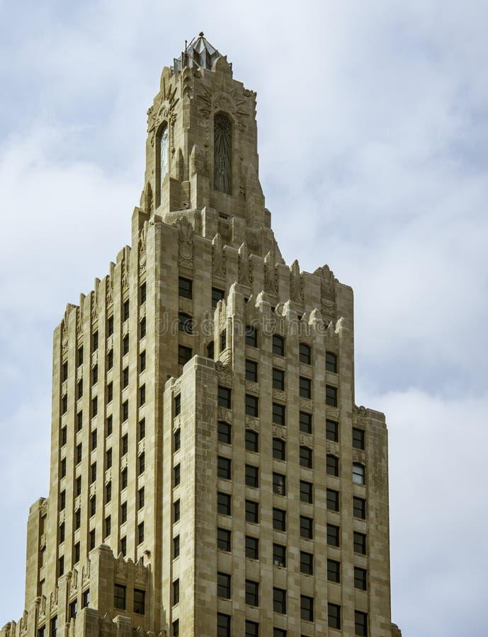 Edificio del poder y de la luz de Kansas imagen de archivo libre de regalías