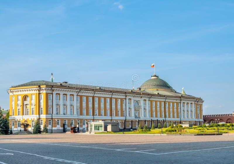 Edificio del senado del Kremlin en Moscú, Rusia imagen de archivo libre de regalías