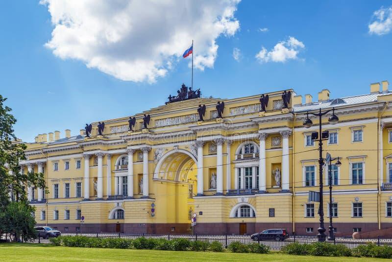 Edificio del senado y del sínodo, St Petersburg, Rusia imágenes de archivo libres de regalías