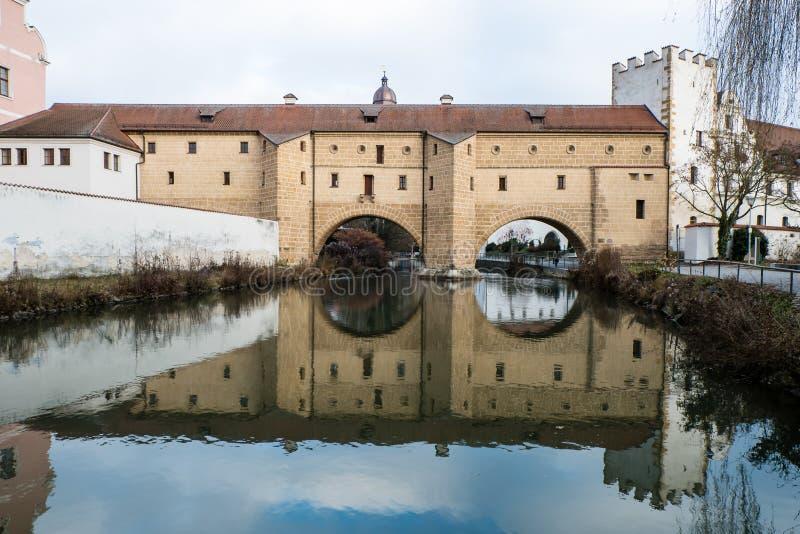 Edificio del stadtbrille de Amberg de la ciudad en Baviera Alemania fotografía de archivo libre de regalías