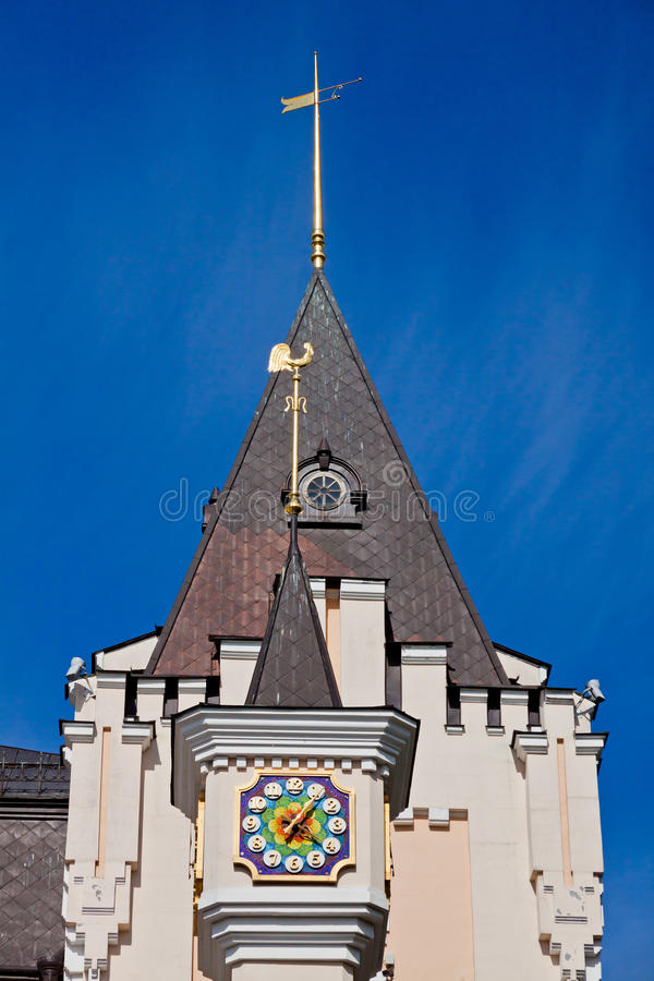 Edificio del teatro académico nacional de la marioneta en Kyiv, Ucrania imagen de archivo