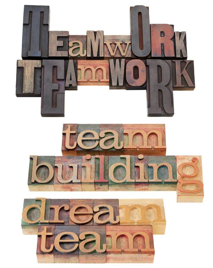 Edificio del trabajo en equipo y de personas foto de archivo