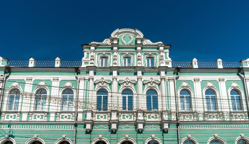 Edificio del tribunal arbitral en el centro de ciudad de Ryazan, Rusia imagen de archivo libre de regalías