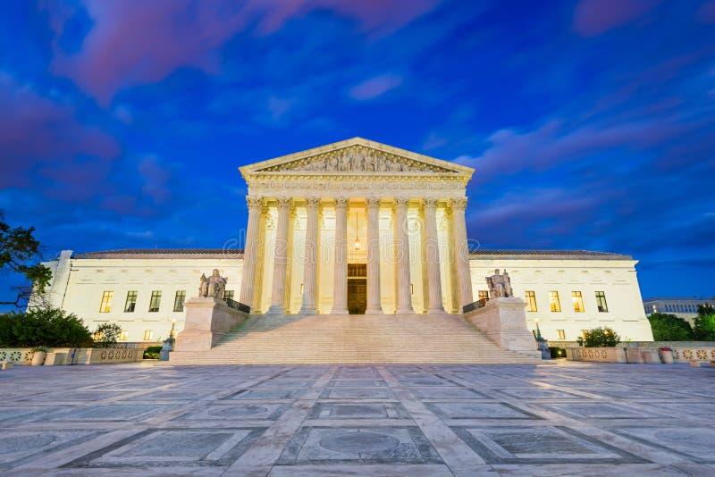 Edificio del Tribunal Supremo de Estados Unidos en el Washington DC, los E.E.U.U. imagen de archivo libre de regalías