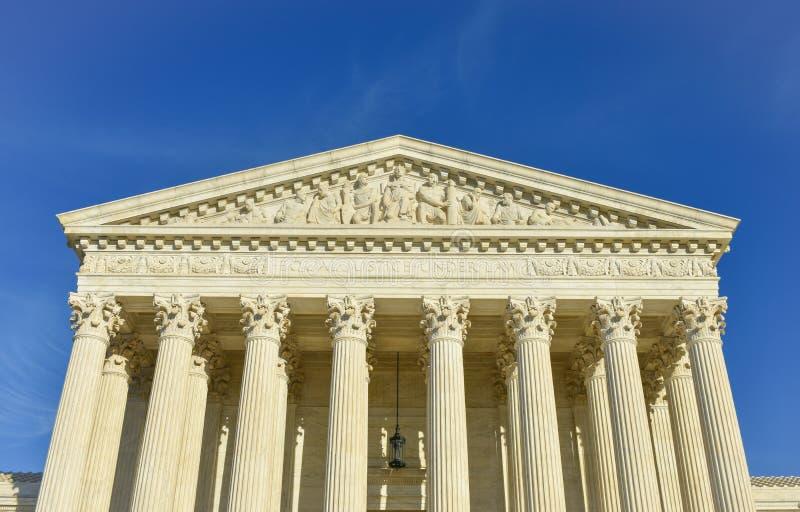 Edificio del Tribunal Supremo de los Estados Unidos de América fotografía de archivo libre de regalías
