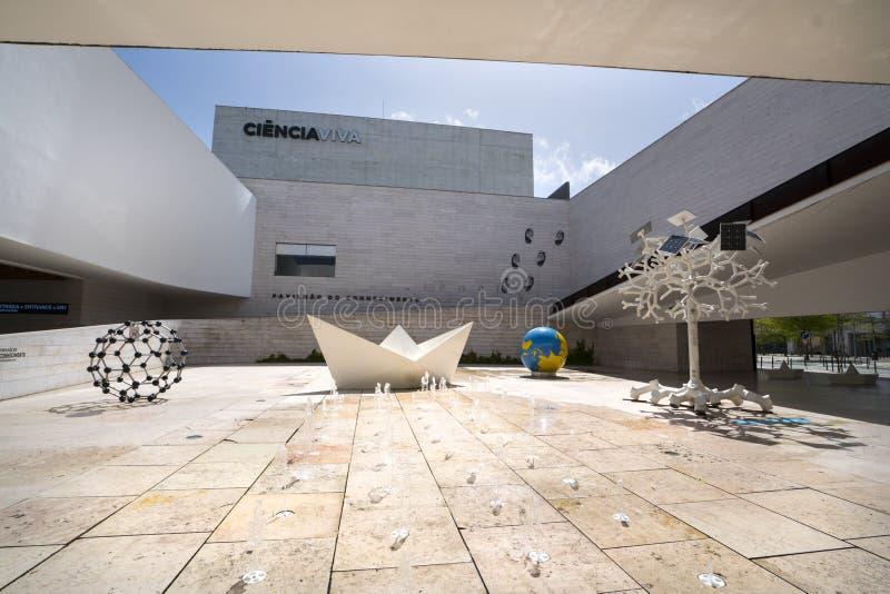 Edificio del viva de Ciencia en Lisboa imágenes de archivo libres de regalías