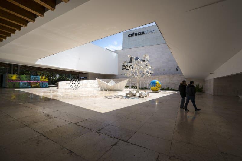 Edificio del viva de Ciencia en Lisboa fotografía de archivo