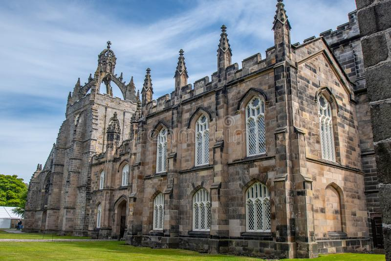 Edificio dell'College dell'università di Aberdeen di re Ciò è il più vecchio fotografia stock