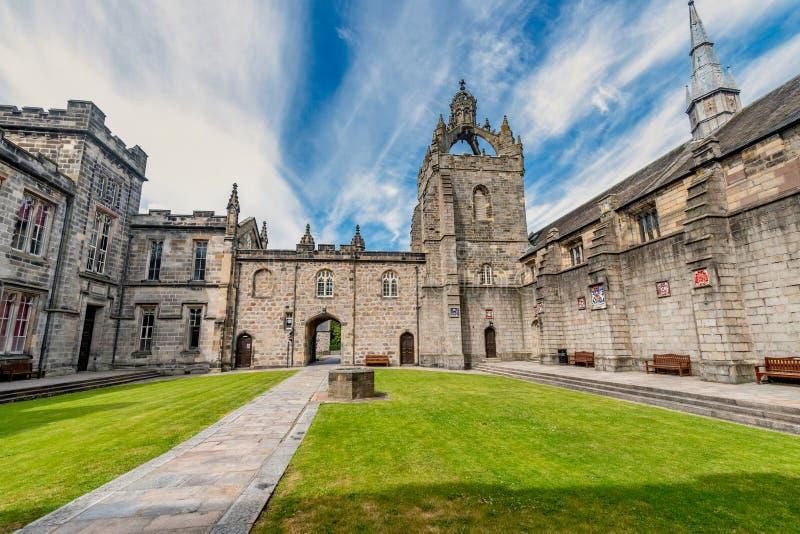 Edificio dell'College dell'università di Aberdeen di re Ciò è il più vecchio immagini stock libere da diritti