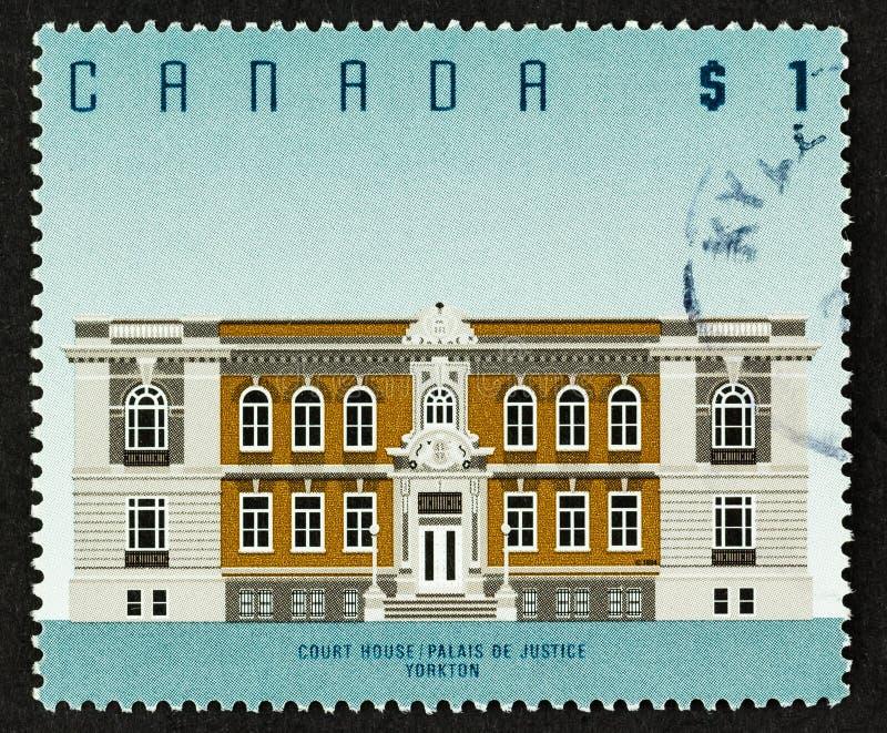 Edificio dell'eredità del timbro di poesia canadese fotografia stock libera da diritti