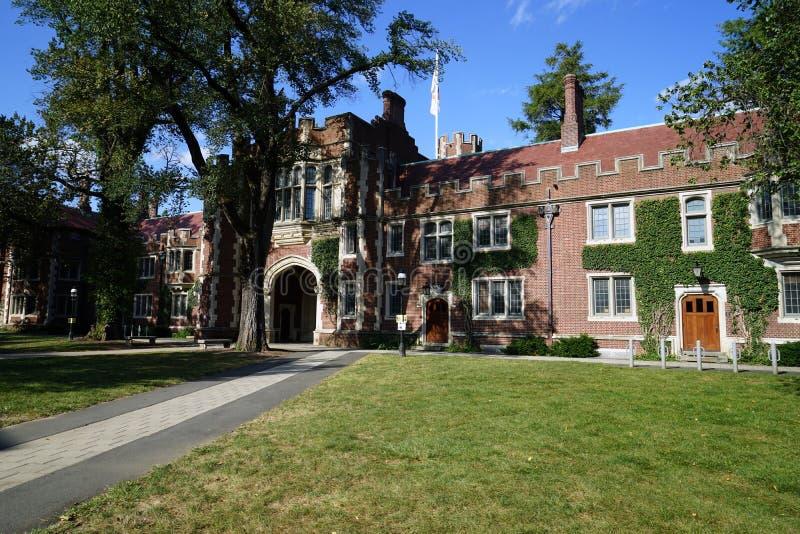 Edificio dell'Università di Princeton 1879 fotografia stock libera da diritti