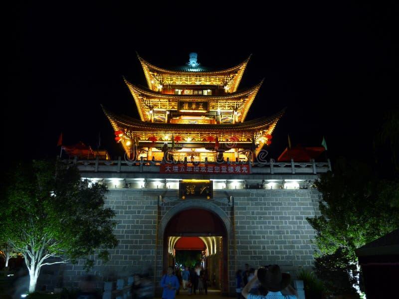 Edificio della Cina Dali Wuhua fotografia stock libera da diritti